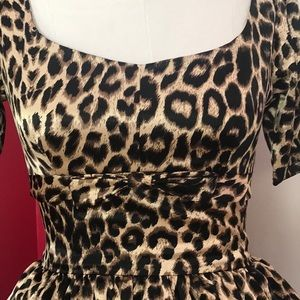 Bernie Dexter rare leopard print satin dress